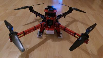 """Kopter mit montierten 14"""" Props"""