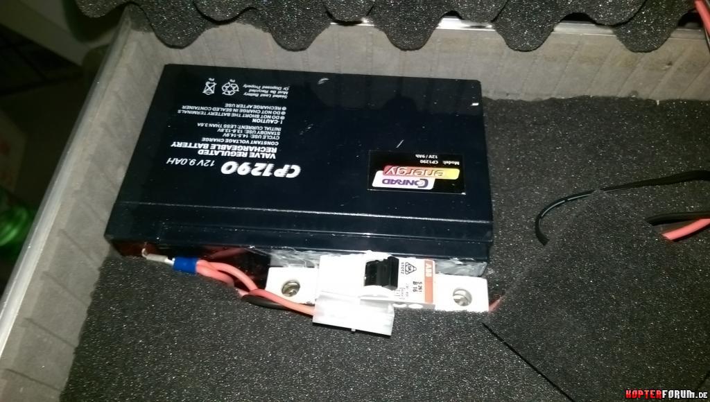 FPV Koffer Unterteil - 9Ah 12V Akku