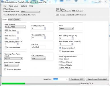 OSD Config uploading