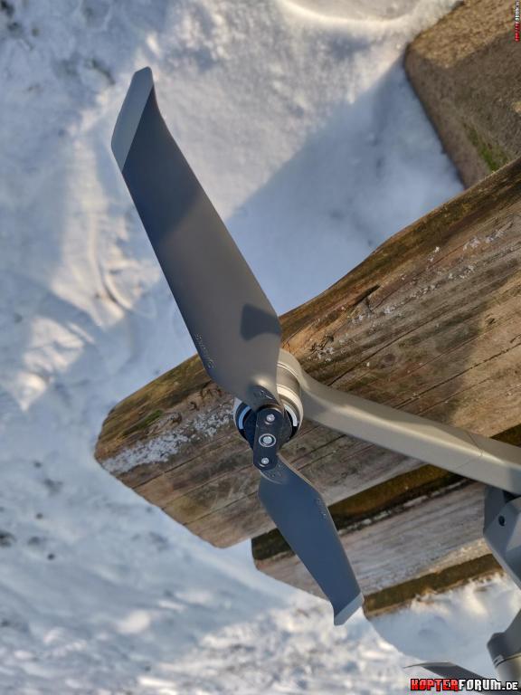 Mavic 2 Propeller bei -3°C nach Flug